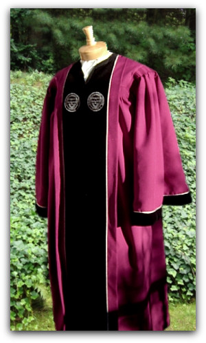 Custom designed Provost robe for WPI Worcester Polytechnic Institute designed by University Cap & Gown