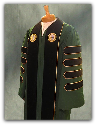 Custom designed presidential robe for College of Our Lady of the Elms designed by University Cap & Gown