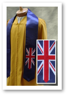 International stoles by University Cap & Gown