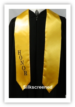 Appliqued Honor Stoles from University Cap & Gown