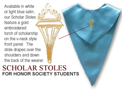 Honor Society Stoles from University Cap & Gown