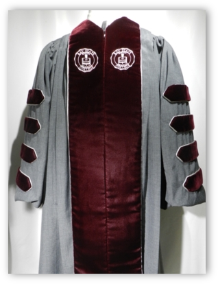 Bay State College presidential robe by University Cap & Gown