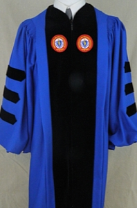 The authentic UMass Lowell doctoral outfit by University Cap & Gown