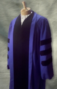 Royal Blue Doctoral Outfit from University Cap & Gown