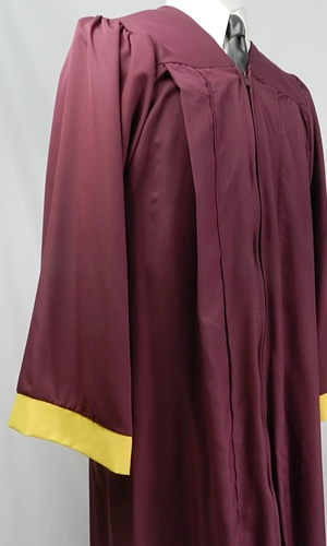 Student souvenir gowns with contrasting sleeve band by University Cap & Gown