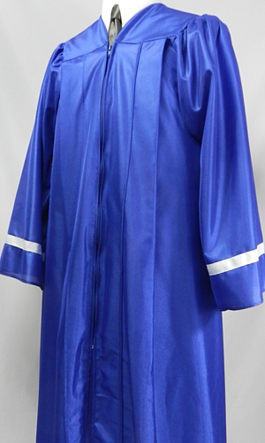 Student caps and gowns with contrasting sleeve stripes by University Cap & Gown
